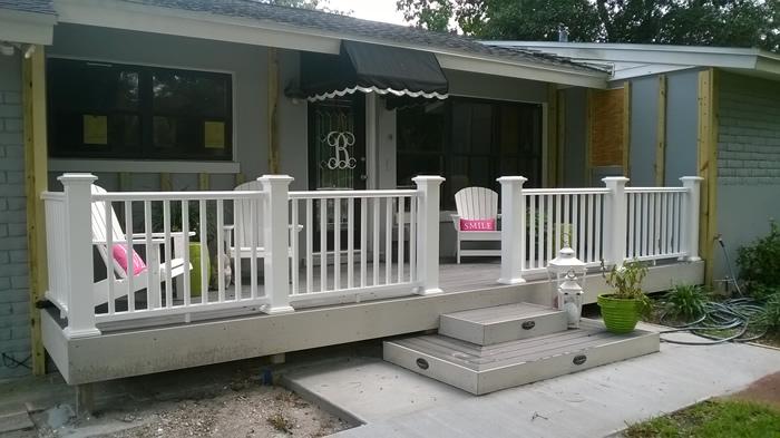 Front Porch Deck Remodel in Belleair Florida