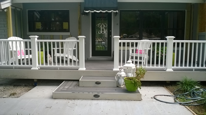 Fronth Porch Deck Remodel - after picture