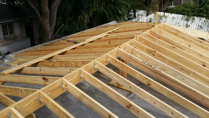 Part of Roof Extension Framing